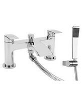 Beo Deck Mounted Dual Lever Bath Shower Mixer Tap With Kit