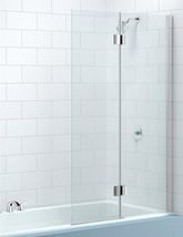 Merlyn 2 Panel Hinged Bath Screen Left Handed 900 x 1500mm - MB7L