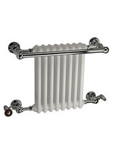 DQ Heating Ashill Traditional Wall Mounted Heated Towel Rail 694 x 514mm