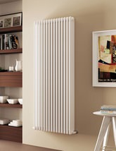 DQ Heating Modus 4 Column White Radiator - 4 To 44 Sections