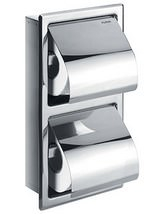 Flova Gloria Double Concealed Toilet Roll Holder - GL8965A