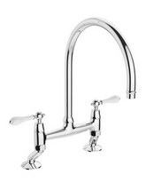 Abode Ludlow Bridge Kitchen Mixer Tap Chrome - AT1029