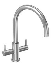 Abode Stainless Steel Novar Monobloc Kitchen Mixer Tap - AT1197