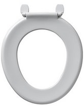 Armitage Shanks Bakasan Toilet Seat Only With Rod And Plastic Hinges White