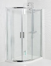 Aqva 1200 x 800mm Offset Quadrant Shower Enclosure