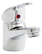 Aqva Java Mono Basin Mixer Tap With Click Waste