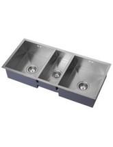 1810 Company Zentrio 340-180-340U 2.5 Bowl Kitchen Sink
