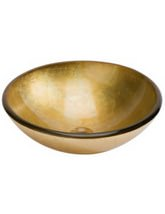 Beo Lavabo 420mm Gold Round Countertop Basin