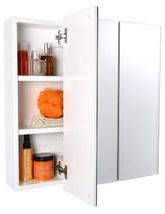 Croydex Lymington Triple Door Tri-View White Steel Cabinet
