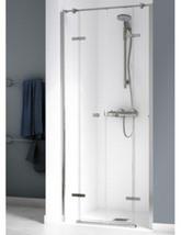 Aqualux Origin 1000mm Recess Saloon Door With 2 Fixed Panels