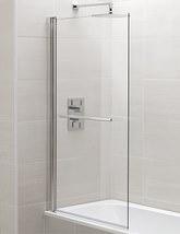 April Identiti2 800 x 1400mm Square Single Panel Bath Screen