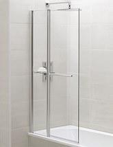 April Identiti2 900 x 1400mm Square Fixed Panel Bath Screen