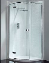 April Prestige Frameless 800 x 800mm Single Door Shower Quadrant