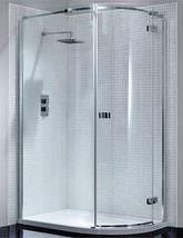 April Prestige Frameless 1000 x 800mm Single Door Offset Shower Quadrant Enclosure