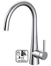 Teka TTM 106C Top Mount Single Lever Cone Shaped Kitchen Sink Mixer Tap