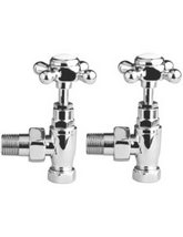 Hudson Reed Pair Of Angled Cross Top Radiator Valve