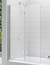 Merlyn Ionic Two Panel Folding Hinged Bathscreen 1100 x 1500mm