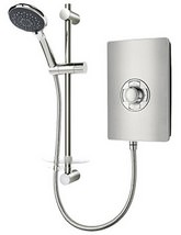 Triton Authentic Aspirante Brushed Steel Electric Shower 9.5 KW- ASP09BRSTL - Small Image