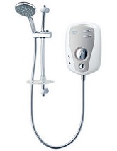 Triton T100XR Electric Shower 9.5kw White And Chrome - SP1009XR