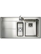 Rangemaster Arlington 1.5 Bowl Stainless Steel Kitchen Sink - LH Drainer