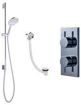 Crosswater Kai-Svelte Digital Bath Filler And Shower Slide Rail Pack 08