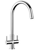 Rangemaster Monorise Monobloc Dual Lever Kitchen Sink Mixer Tap