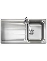 Rangemaster Glendale 950 x 508mm Stainless Steel 1.0B Inset Kitchen Sink