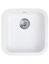Astracast Lincoln 4040 Main Bowl Ceramic Gloss White Undermount Sink