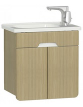 VitrA D Light 500 x 305mm Nautral Oak Vanity Unit With Washbasin