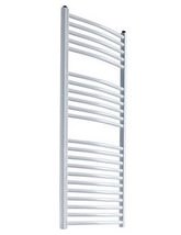 Reina Diva 600mm Wide Curved Towel Rail In White Or Black Finish