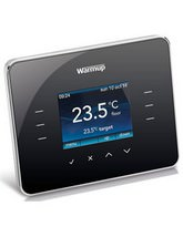 Warmup 3iE Energy Monitoring Piano Black Thermostat