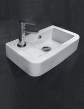 Silverdale Henley 410 x 250mm Micro Basin With 1 Taphole On Left