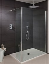 Simpsons Design 300mm Wide Walk In Shower Panel