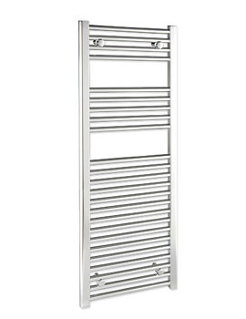 Straight 300 x 1400mm Chrome Towel Rail - STRCR30140