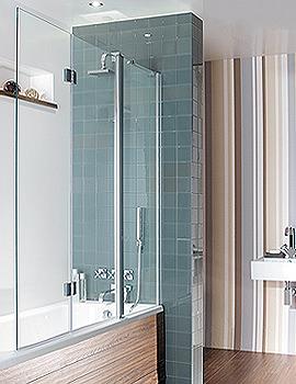 Design Semi Frame-less Triple Bath Screen 1500mm