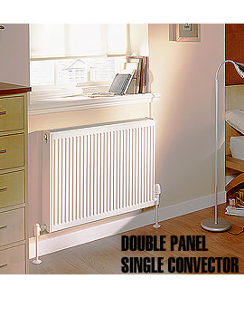 Compact 600 x 500mm Double Panel Plus Radiator - Q21506KD