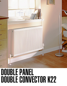 Barlo 1100 x 500mm Double Convector Radiator 22K - Q22511KD