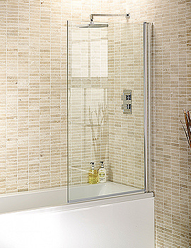Aquadart Square Edge Bath Screen 1400 x 800mm - AQ6000