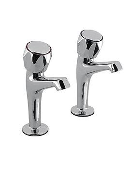 Skarra Designer Lever Sink Pillar Chrome Taps