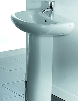 Dorro Elegant Wash Basin and Pedestal - SCORPION-DORRO-50CM