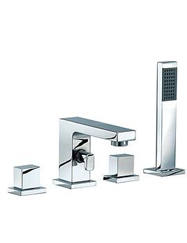 Blox 4 Holes Bath Bath Shower Mixer Tap - BLX047